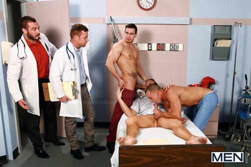 Straight men orgy