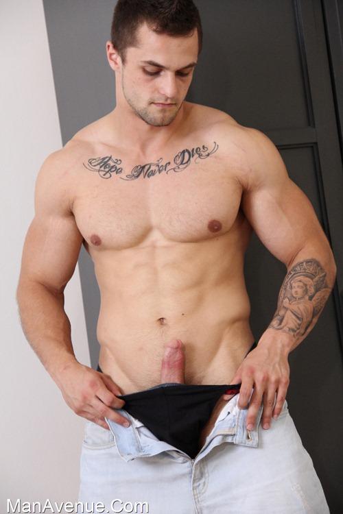 Cute boy in tats got his dick jerked