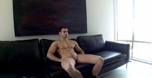 Engaged straight guy Scotty comes to his first porn audition