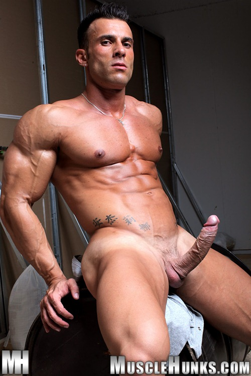 cocks with hard Muscle men