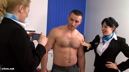 Hunky Terry Butcher Inspected by Imperious Women