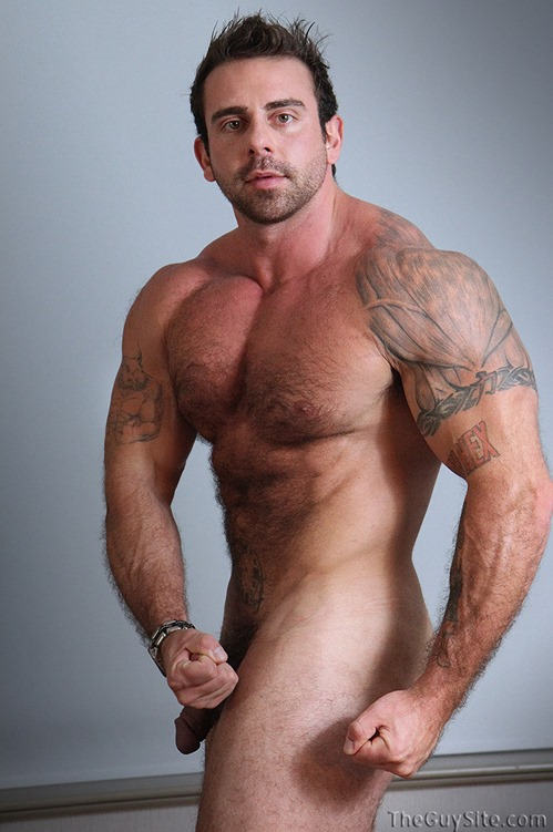 Muscly stud in tats fucking a guy
