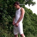 Muscled Sportsman Dennis Inspected By Pervy Clothed Guys