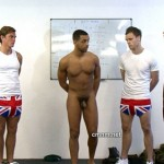 Clothed Male Naked Male – Sergeant Demonstrates Anal Examination to the Recruits