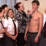 Virgin Boy Martin Serves As Live Male Model In Female Biology Class