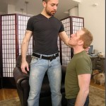 Bearded Aaron Gets His Cock Blown