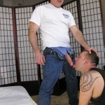NYSM – Married Daddy Stuffs Cocksucker's Mouth With His Massive Cock