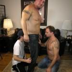 New York Straight Men – Big Italian Stud Rocco Gets Serviced by 2 Cocksuckers
