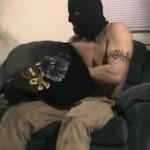 Hot Masked Police Officer Zack Gets Serviced