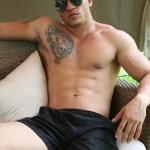 Hot Muscled Latin Stud Anthony Barrera Walks With Boner
