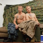 First Gay Blowjob For Petty Officer Aiden Ends With A Massive Cumshot Into His Face