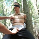 Men On Edge – Edging Tied-Up Ty Roderick In Forest
