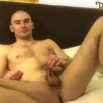 Masculine Hetero Stud Kris Strokes His Dick With A Huge Mushroom Cockhead