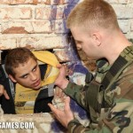 Young Lad Standa Humiliated & Trained By Handsome Masculine Soldier