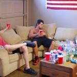 2 Hung Frat Boys Bareback & Breed Carter's Straight Ass