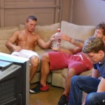 FraternityX – Party Foul Grant Gangbanged By Three Hung Frat Boys