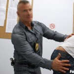 Aggressive Police Officer Oakes Nails Young Muscled Thug Darius Soli