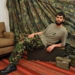 Rough Bearded Private Antonio Shoots A Massive Load