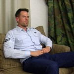 Handsome Masculine Airman Zach Strokes His Military Dick