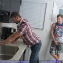 Brian Bonds Pounds Hot Hairy Plumber CJ Parker In The Kitchen