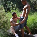 Muscled Manly Stud Goran Pounds Xavi's Ass In The Woods
