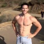 Masculine Personal Trainer Steve Moyer Demonstrates Push-Ups