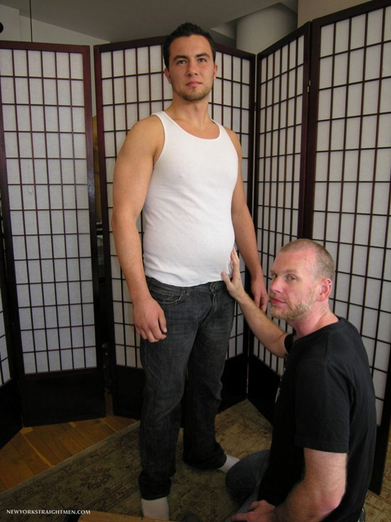 Straight men serviced by gay