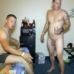 Naked Marines Having A Beer Party In A Hotel