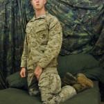 Cute Soldier Austin Jerks Off His Massive Cock