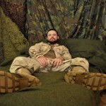 Hung Bearded Sergeant Miles Shoots A Huge Load