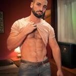 Big Hairy Stud Abraham Al Malek & Sexy Masculine Fucker Dato Foland Flip-Flop Fucking