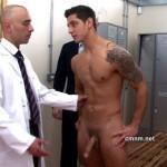 Pervy Men Inspect Virile Footballer Miguel & Finger His Arse