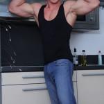 Muscled Motherfucker Max Born Struts His Stuff & Strokes His Big Stiff Boner