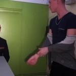Manly Hunk Kevin Sportswear Drills Desire Dange's Ass