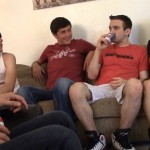 Matt's Ass Gets Filled With Three Loads In A Big Gangbang