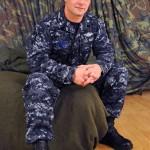 Handsome Ripped Navy Man Logan Jacks Off