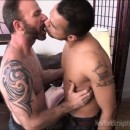 Straight Married Man Hector Says His Wife Sucks At Blowjobs – Today He Gets Head From Hot Bearded Michael