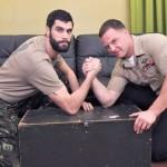 Army Buddies Antonio & Logan Such Each Other's Cock