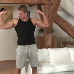 Hot Muscled Stud Jay Shows Off Muscles & Strokes His Hard Cock