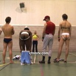 New Female Trainer Has Her Way With A Bunch Of Macho Jocks