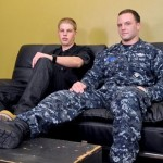 Aggressive Navy Corpsman Logan Pounds Young Slim Lifeguard Tommy's Ass