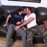 Straight Bearded Man Jim & Hot Cocksucker Brock Exchange Blowjobs