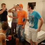Freshman Nick Gets Both His Holes Drilled & Filled With Cum In A Big Orgy