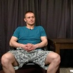 Self-Confident Beefy Straight Lad Yogi Strokes His Big Pecker