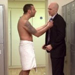 Beefy Inked Straight Hunk Mr Rossi Examined By Pervy Men In The Locker Room