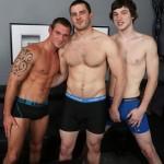 Vander, Cooper & Wren In A Wild 3-Way Bareback Orgy
