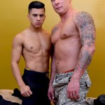 Aggressive Muscled Army Stud Tyler Demolishes Officer Rizzo's Tight Ass