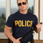 Ripped Officer Huntsman Serviced By Pervy Dude Connor Chesney