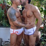 Muscle Hunks Goran & Flex Flip-Flop Fuck At A Spanish Rooftop