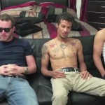 Three Totally Straight Guys Get Their Huge Hard Cocks Professionally Serviced